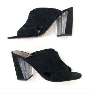 NEW Dolce Vita Ginger Suede Heeled Open Toe Mules